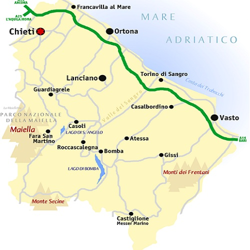 Chieti abruzzo province south italy