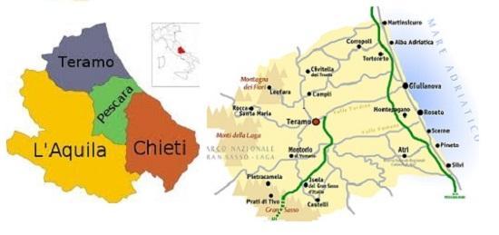 Teramo province where the truffles grow
