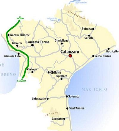 Points of interest in the province of Catanzaro