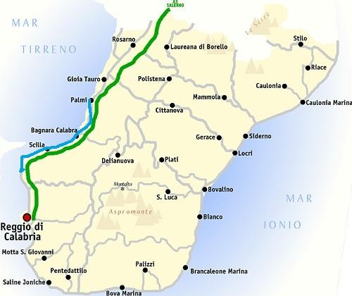 South Italy Calabria Violet coast from Palmi to Villa San ...