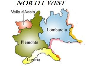 Map Of North West Italy.Your Key To South Italy And Little Known Places To Visit