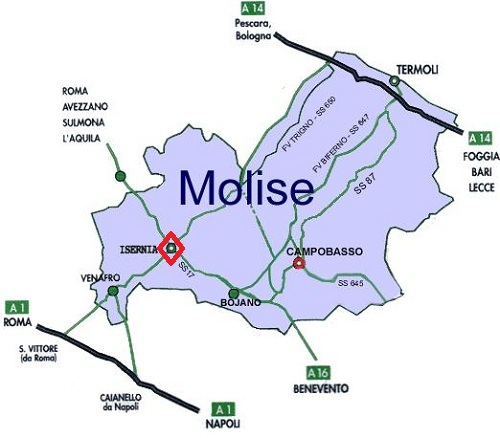 Isernia Italy Map.Learn About The Isernia And Molise