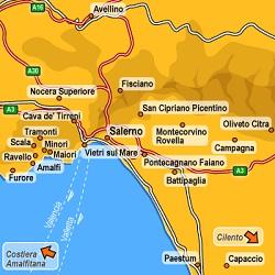 Cilento Region Italy Map.Cilento And Valle Del Dano National Park Camapania