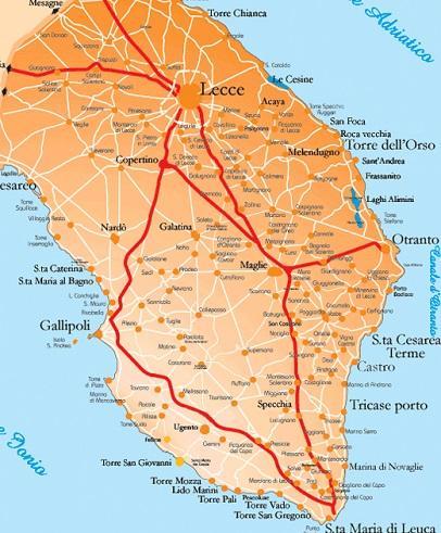 Cartina Puglia Lido Marini.Most Beautiful Beaches In Lecce Puglia