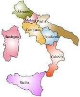 Map Of Southern Italy Regions.Southern Italy At Glance